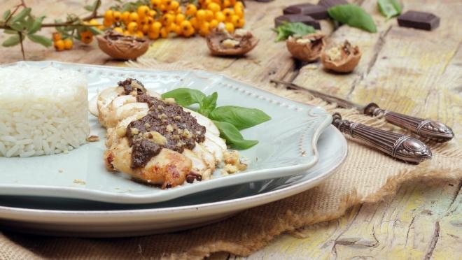 Resultado de imagem para PEITOS DE FRANGO COM PESTO DE CHOCOLATE 24 kitchen
